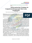 Survey on a 3D Reconstruction Technique for Computerized Dermoscopic Skin Lesion Classification