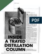 Inside a Trayed Distillation Column