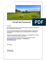 The Lalit Golf Tournament