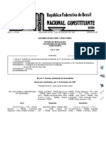 Documento histórico de instalação da Assembleia Nacional Constituinte de 1988