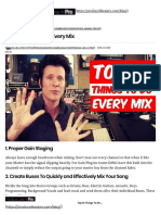 Top 10 Things to Do Every Mix - Produce Like a Pro