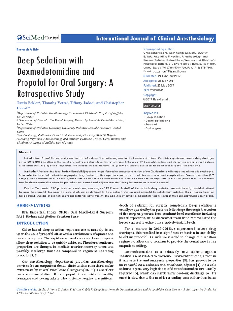 Anesthesiology-5-1069 Deep Sedation With Dexmedetomidine and