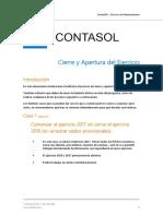 ContaSOL Instrucciones Cierre y Apertura 2016 2017