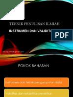 Instrumen & Validitas (Semester 7)