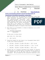 Solution Manual Fundamentals of Investments 3rd Edition by Gordon J. Alexander SLP1137