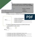 Matemáticas Divisiones