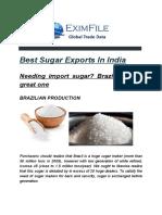 _Brazil Sugar Exports