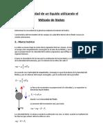 Viscosidad de Un Líquido Utilizando El Método de Stokes