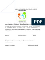 San International College of Arts and Science Certificate