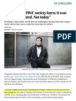 """Philosophy_ """"in Orwell's '1984' Society Knew It Was Being Dominated. Not Today"""" _ in English _ EL PAÍS"""