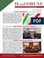 Notizie Dal Comune di Borgomanero del 1° Giugno 2018
