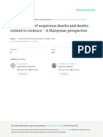 Investigation of Suspicious Deaths and Deaths Related to Violence, A Malaysian Perspective