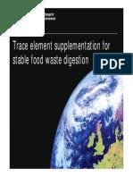 Trace Element Supplementation