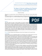 An Assessment of the Impact of Internal Auditing on the Financial Management of Local Government