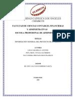 Informacion General de Proyecto de Inversion