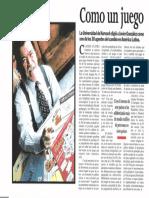 """""""Como Un Juego"""" Revista Semana Julio 2001"""