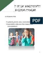 Relaciones de Los Adolescentes en El Bullying Escolar