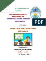 Liderazgo y Planificacion Educativa Katty Rojas