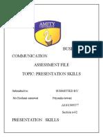 Presentation Skills Bc Assignment