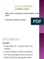 Analysis of Aviation Sector in India & Its Services