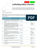 Scaffolding Safety Checklist PDF En
