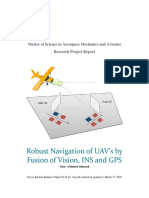 Robust Navigation of UAV's by Fusion of Vision, InS and GPS