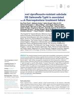 A Novel Ciprofloxacin-resistant Subcladeof H58 S