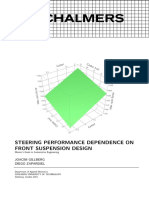 Steering Performance Dependence on Front Suspension Design