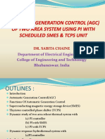 AUTOMATIC GENERATION CONTROL (AGC) OF TWO AREA SYSTEM USING PI WITH SCHEDULED SMES & TCPS UNIT