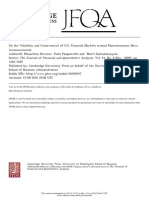 Brenner Pasquariello and Subrahmanyam (2009 JFQA)