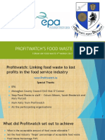 Oli Gleeson Profitwatchs Food Waste Project Forum on Food Waste 2017