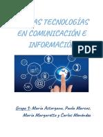 Nuevas Tecnologías en Comunicación e Información