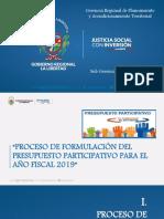 Exposicion Presupuesto Participativo 2019
