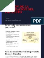 1 Gestion de La Integración Del Proyect