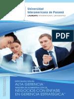 Maestría en Administración de Negocios Con Énfasis en Gerencia Estratégica