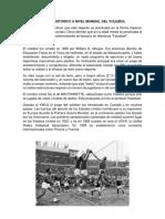 Origen Historico a Nivel Mundial Del Voleibol
