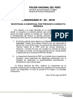 COMUNICADO N° 22 - PNP