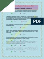 Treino de Aprendizagem - Questões sobre tendências pedagógicas.docx