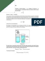 Densidad y Tension Superficial Fisica Laboratorio