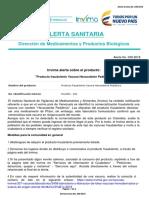 Alerta No. 039-2018 - Producto Fraudulento Vacuna Hexavalente Pediátrico