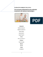 La Importancia de Una Buena Alimentación Para Estimular Buen Funcionamiento Del Sistema Inmunologico (Autoguardado)