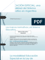 EDUCACIÓN ESPECIAL, Una Modalidad Del Sistema Educativo(1)