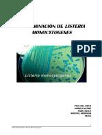 Determinación de Listeria Monocytogenes