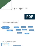 A Variação Linguística