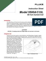 Fluke 5500a-Coil Inst Sheet