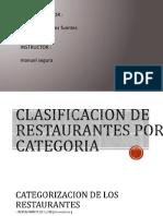 Clasificacion de Restaurantes Por Categoria