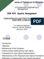 Lean Sigma Strategy