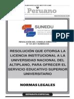 Resolucion Que Otorga La Licencia Institucional a La Univers Resolucion n 101 2017 Suneducd 1602495 1