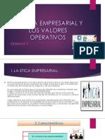 La Etica Empresarial y Los Valores Operativos