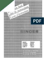 Singer FM22 Instruction Manual